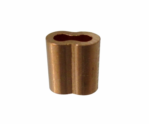 "Military Standard MS51844-43 Plain Copper 3/32"" Swaging-Wire Rope Sleeve"