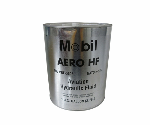 Exxon Mobil Aero HF Red MIL-PRF-5606H Amendment 3 Spec Aviation Hydraulic Fluid - Gallon Can