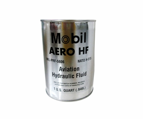 Exxon Mobil Aero HF Red MIL-PRF-5606H Amendment 3 Spec Aviation Hydraulic Fluid - Quart (946 mL) Can