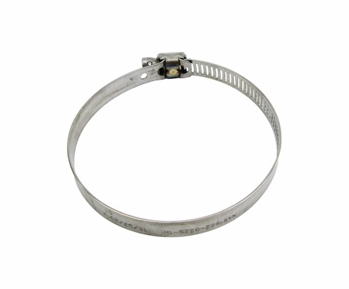 National Aerospace Standard NAS1922-0200-1 Stainless Steel Slot Head Clamp, Hose