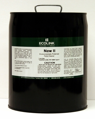 Ecolink 1156-5 New II Environmentally Preferred Parts Cleaner - 5 Gallon Pail