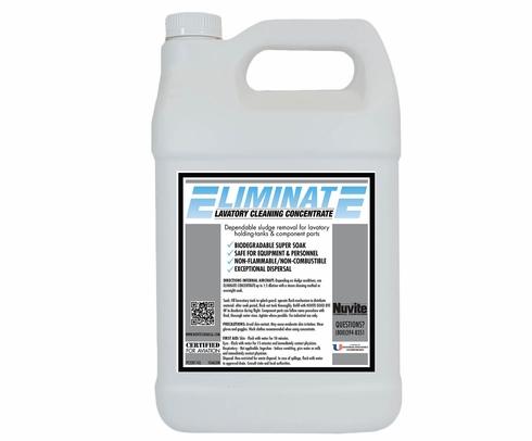 Nuvite PC22011QT Eliminate Concentrated Aircraft Holding Tank Sludge Cleaning Fluid - Quart Jug