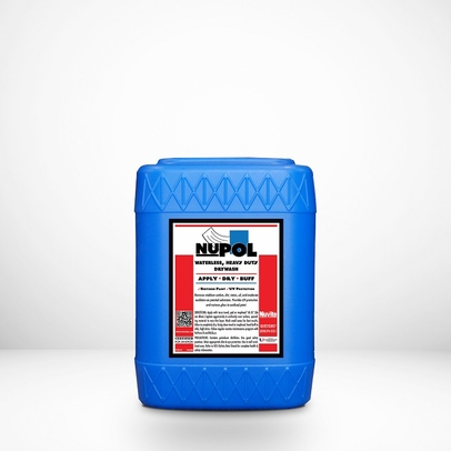 Nuvite PC22055GL NuPol Heavy-Duty Drywash/Polish Cleaner with U/V Protectant - 5 Gallon Pail