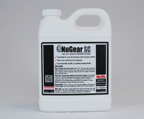 Nuvite PC22091GL NuGear SC Heavy-Duty Immersion Tank Aqueous Degreasing Compound - Gallon Jug
