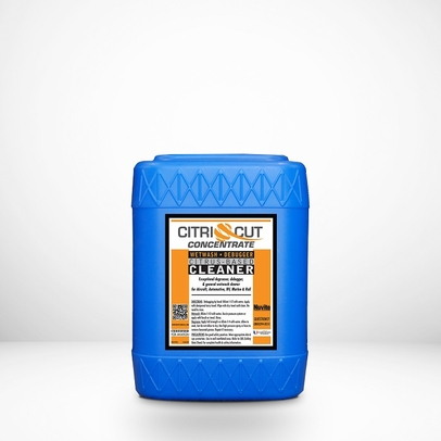 Nuvite PC22475GL CitriCut Concentrate Citrus-Based Biodegradable Heavy-Duty Aircraft Degreaser - 5 Gallon Pail