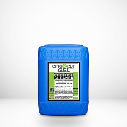Nuvite PC22995GL CitriCut Citrus-Based Biodegradable Heavy-Duty Gel Surface Cling Aircraft Degreaser - 5 Gallon Pail