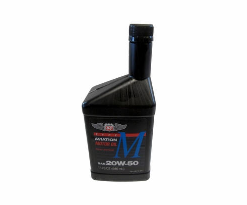 Phillips 66® X/C® Aviation 20W-50 Mineral Multi-Grade Piston Engine Aircraft Oil - Quart (946 mL) Bottle