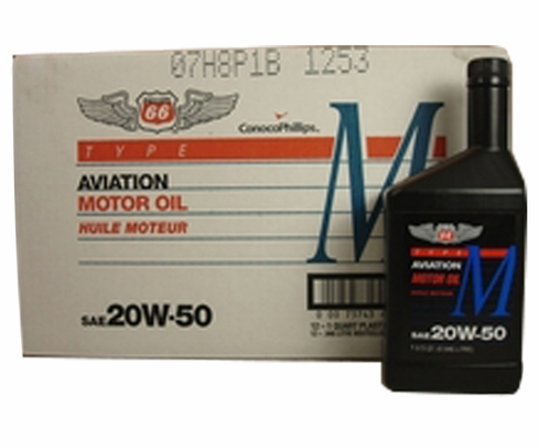 Phillips 66® X/C® Aviation 20W-50 Mineral Multi-Grade Piston Engine Aircraft Oil - 12 Quart (946 mL)/Case