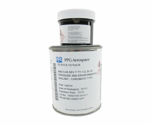 PPG Aerospace® P/S 870 B-1/2 Gray Boeing BMS 5-95 Type I Class B-1/2 Spec Corrosion Inhibitive Sealant - Pint A+B Kit