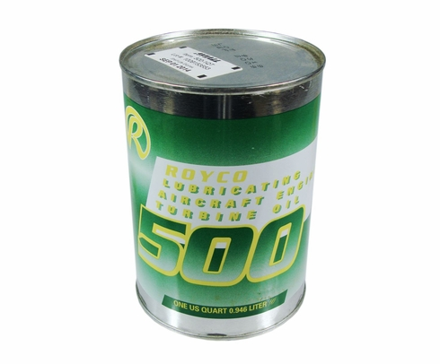 ROYCO� 500 Clear MIL-PRF-23699G Spec Synthetic Gas Turbine Engine Oil - 24 Quart/Case