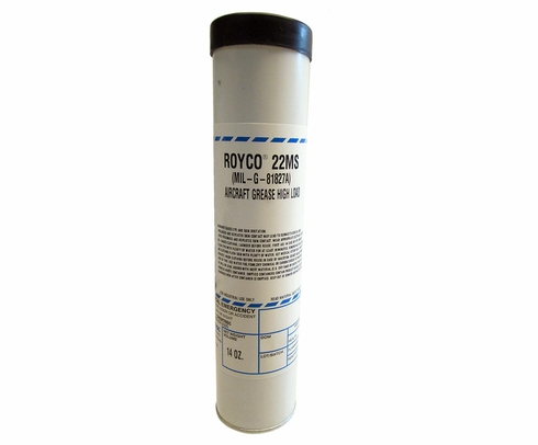 ROYCO� 22MS Black MIL-G-81827A Spec High Load Capacity Synthetic Grease - 14 oz Cartridge