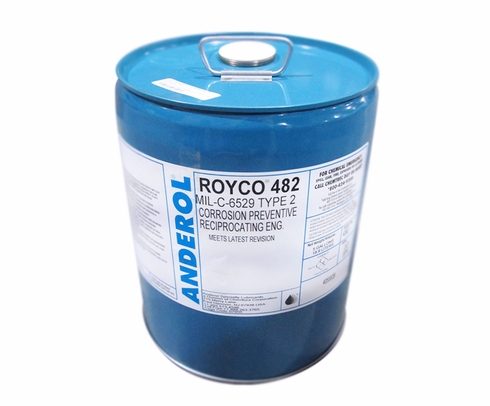 ROYCO� 482 Amber MIL-C-6529C2, Type II Spec Corrosion Preventative Oil - 5 Gallon Steel Pail