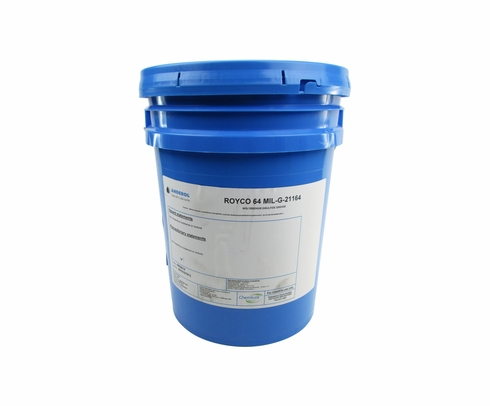 ROYCO� 64 Dark Gray MIL-G-21164D Notice 1 Spec High Load Synthetic Grease - 5 Gallon Plastic Pail