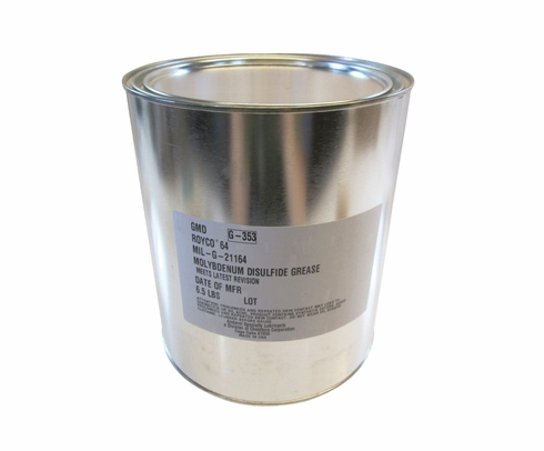 ROYCO� 64 Dark Gray MIL-G-21164 Spec High Load Synthetic Grease - 6.5 lb Can
