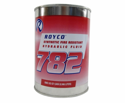 ROYCO� 782 Red MIL-PRF-83282D Spec Synthetic Fire Resistant Aircraft Hydraulic Fluid - Quart Can