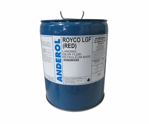 ROYCO� LGF Red Landing Gear Fluid - 5 Gallon Steel Pail
