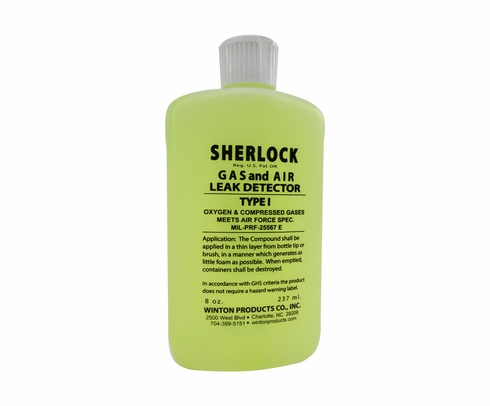 Sherlock T1-8S Type I Oxygen & Compressed Gas Leak Detector - 8 oz Squeeze Bottle