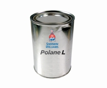 Sherwin-Williams F63B7 Polane T Flat Black Special Polyurethane Paint - Gallon Can