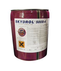 Eastman™ Skydrol® 500B-4 Purple BMS3-11P Type IV, Class 2 Spec Fire Resistant Hydraulic Fluid - 19.95 Kg (5 Gallon) Pail