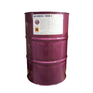 Eastman™ Skydrol® 500B-4 Purple BMS3-11P Type IV, Class 2 Spec Fire Resistant Hydraulic Fluid - 219.5 Kg (55 Gallon) Drum