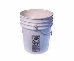 SkyGeek 5 Gallon Plastic Pail (CLEARANCE)