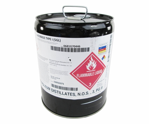Federal Specification A-A-59601E Type I Dry Cleaning & Degreasing Solvent - 5 Gallon Pail