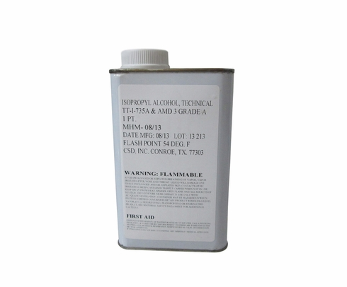Military Specification TT-I-735 NOT.3 Grade A Isopropyl Alcohol Solvent - Pint Can