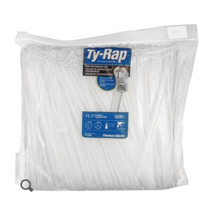 """Thomas & Betts TY23M Ty-Rap Natural 4"""" Cable Tie - 1000 Cable Tie/Pack"""