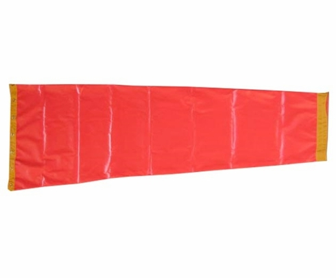 "Windcone Sales WC10DR Red Cotton Duck 10"" Throat Diameter x 42"" Length Windsock"