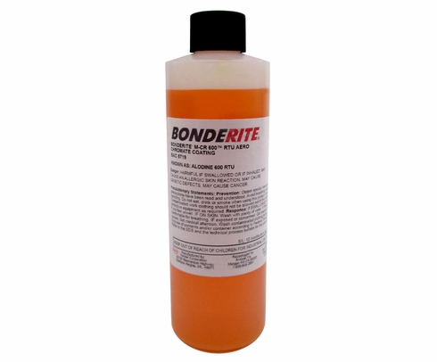 Henkel 007711 BONDERITE� M-CR 600� AERO Light Metals Conversion Coating - 8 oz Bottle