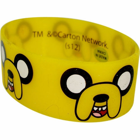 Adventure Time Jake Faces Rubber Wristband
