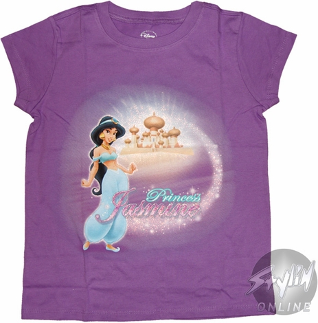 Aladdin Jasmine Sparkles Youth T-Shirt