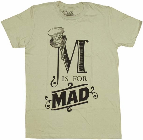 Alice in Wonderland M for Mad T-Shirt Sheer