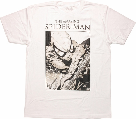 Amazing Spider-Man Black & White Art T-Shirt Sheer