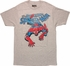 Amazing Spiderman Crawling Down Distressed T-Shirt