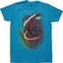 Amazing Spiderman Swinging Mask Teal T-Shirt