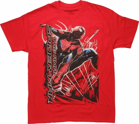 Amazing Spiderman Vertical Lettering T-Shirt