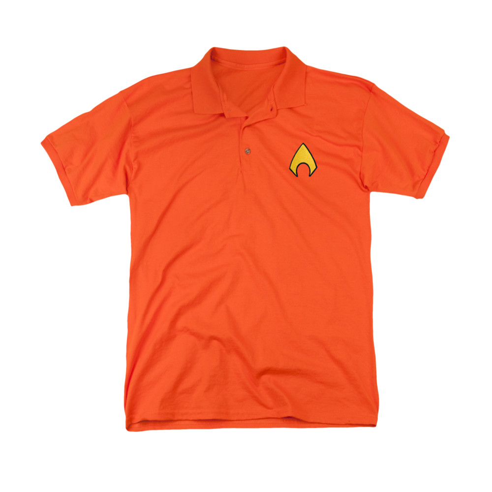 Aquaman embroidered logo polo shirt for Polo shirts with embroidery