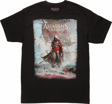Assassins Creed IV Black Flag Artwork T-Shirt