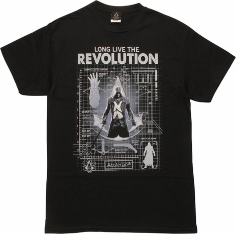 Assassins Creed Unity Blueprint T-Shirt