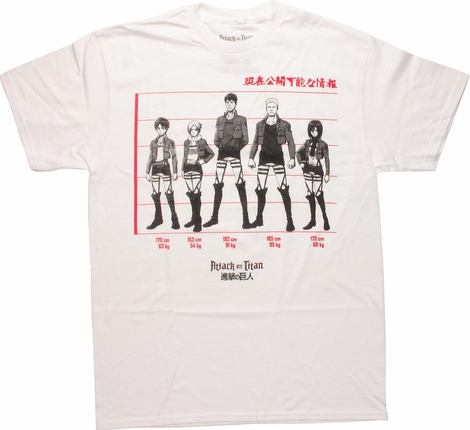 Attack on Titan Group Line T-Shirt