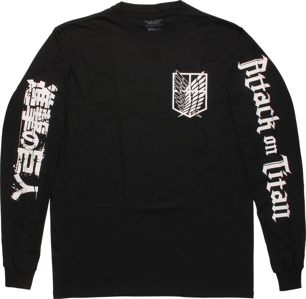 Attack on titan scout shield long sleeve t shirt for T shirt with long sleeves