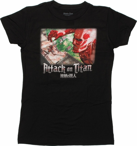 Attack on Titan Wall Battle Baby Tee