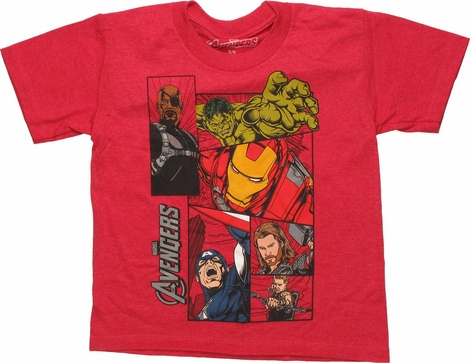 Avengers Fury Hero Boxes Juvenile T-Shirt
