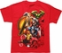 Avengers Heroes Stacked with Logo Youth T-Shirt