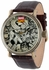 Avengers Mens Vintage Brown Watch