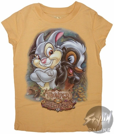 Bambi Thumper Flower Girls T-Shirt