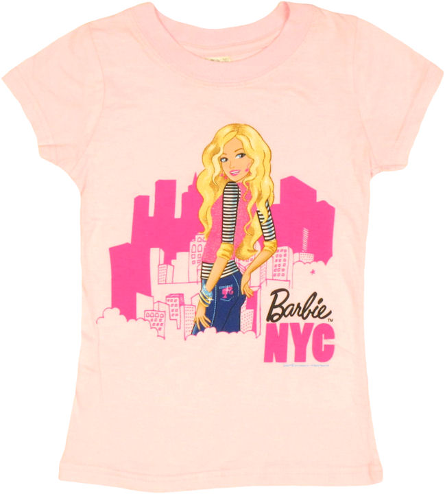 Barbie look back nyc youth girls t shirt for T shirt screen printing nyc