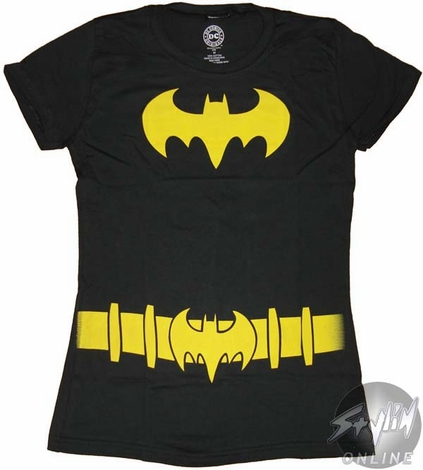 sc 1 st  Stylin Online & Batgirl Costume Symbol Baby Tee