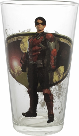 Batman Arkham Knight Robin Toon Tumbler Pint Glass